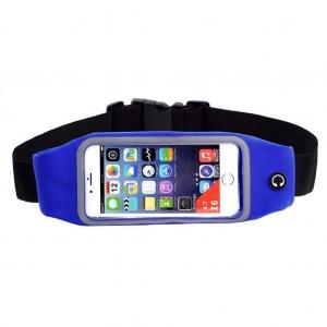 Sportovní pouzdro kolem pasu, barva modrá