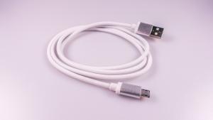 Datový kabel micro USB barva bílá - nylon