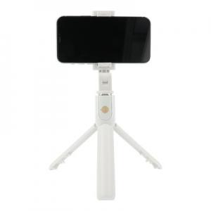 Selfie držák se stativem K07 - 3,5mm jack, barva bílá