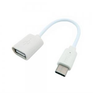 Micro USB adaptér pro USB OTG - Typ C barva bílá