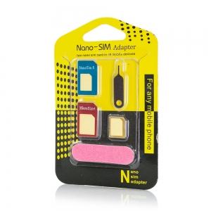 Adaptér SIM 5v1 (SIM, Micro SIM, Nano SIM)