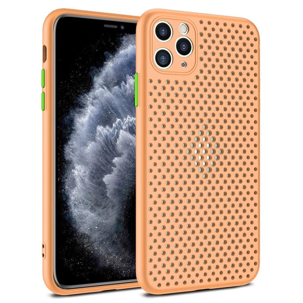 Pouzdro Breath Case Samsung A217 Galaxy A21s, barva oranžová