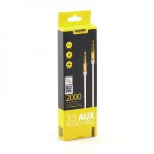 Kabel AUX Remax L200 Jack 3,5mm 2m barva bílá