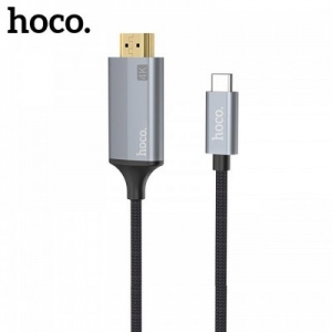 Kabel HDMI na Typ C 1,8m Hoco UA13, barva šedá