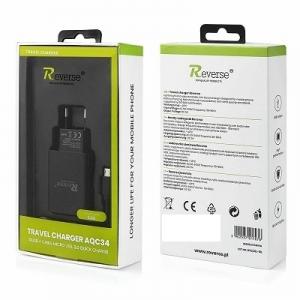 Cestovní nabíječ Reverse (AQC34) micro USB 3A + kabel