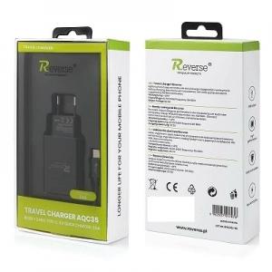 Cestovní nabíječ Reverse (AQC35) micro USB Typ C 3A + kabel