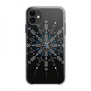 Pouzdro Winter iPhone 11 (6,1), vzor vločka
