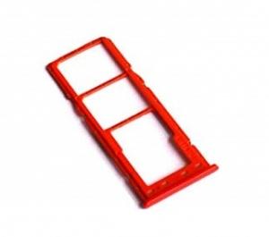 Držák (šuplík) SIM Samsung A105 Galaxy A10 red