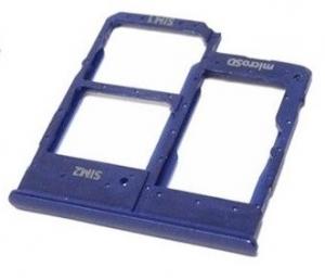 Držák (šuplík) SIM Samsung A202 Galaxy A20e blue