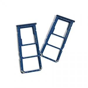 Držák (šuplík) SIM Samsung A705 Galaxy A70 blue
