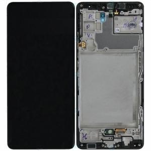 Dotyková deska Samsung A426 Galaxy A42 5G + LCD + rámeček black Service Pack - originál