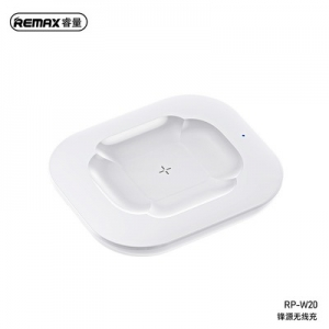Indukční nabíječ pro AirPods, Remax RP-W20, 10W barva bílá