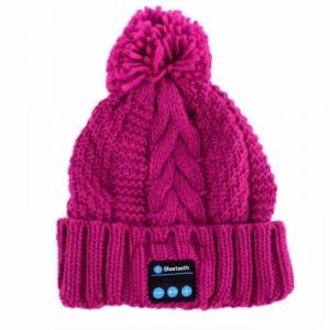 Bluetooth headset Čepice barva růžová