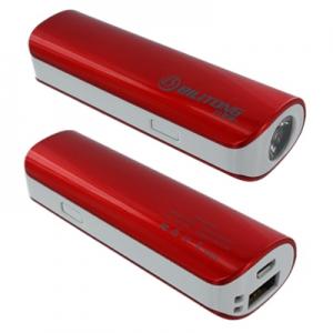 Externí baterie POWER BANK Bilitong Y022, 2600mAh + svítilna červená