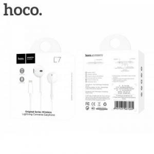 Hands Free HOCO L7 iPhone 7,8 konektor iPhone, barva bílá
