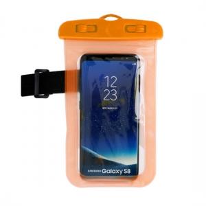Pouzdro voděodolné zámek plastový barva oranžová