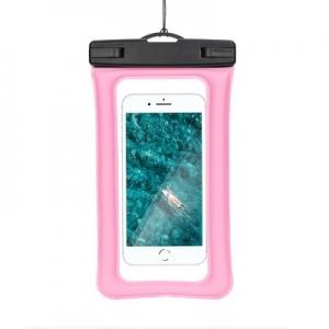 Pouzdro voděodolné AIR, zámek plastový barva světle růžová
