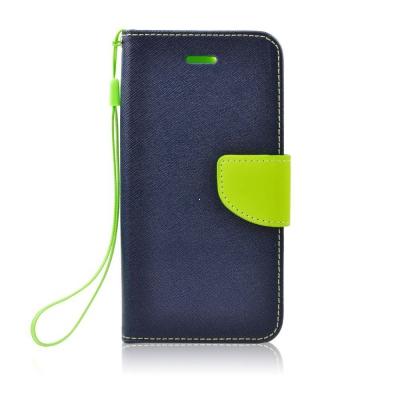 Pouzdro FANCY Diary Samsung A530 Galaxy A5 (2018), A8 (2018) barva modrá/limetka