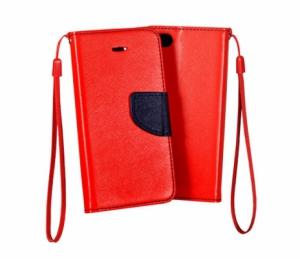 Pouzdro FANCY Diary iPhone 5, 5S, 5C, SE barva červená/modrá
