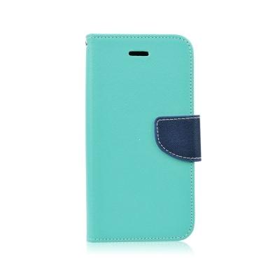 Pouzdro FANCY Diary iPhone X, XS (5,8) barva světle modrá/modrá
