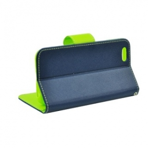 Pouzdro FANCY Diary TelOne Lenovo Vibe B (A1010) barva modrá/limetka