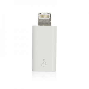 Redukce micro USB / iPhone Lightning barva bílá