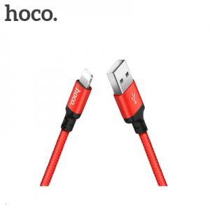 Datový kabel HOCO X14 iPhone 5, 6, 7, 8, X barva červená - 2 metry