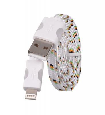 Datový kabel iPhone Lightning - Svítící barva bílá