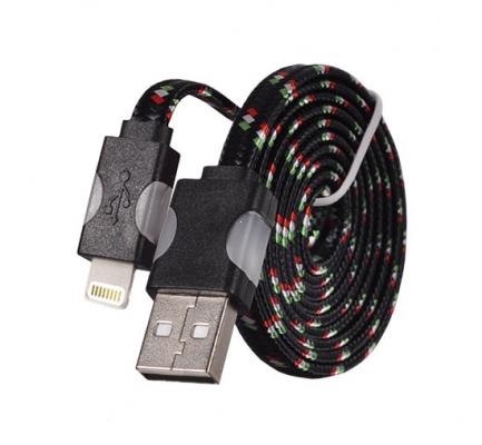 Datový kabel iPhone Lightning - Svítící barva černá
