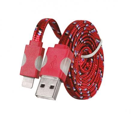 Datový kabel iPhone Lightning - Svítící barva červená