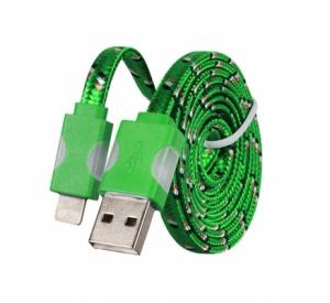 Datový kabel iPhone Lightning - Svítící barva zelená