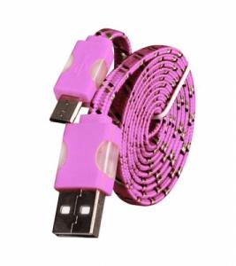 Datový kabel micro USB TYP- C - Svítící barva růžová