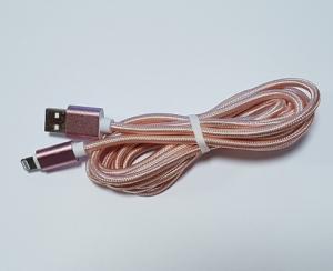 Datový kabel iPhone 5, 5S, 5C, 6, 6Plus, 6S, 7, 7Plus, 8, 8Plus, X UNICORNO barva rose gold - 2 metry