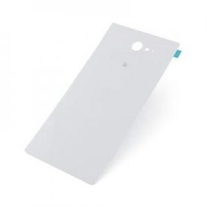 Kryt baterie Sony Xperia M2 D2303, M2 AQUA D2403 + lepítka bílá