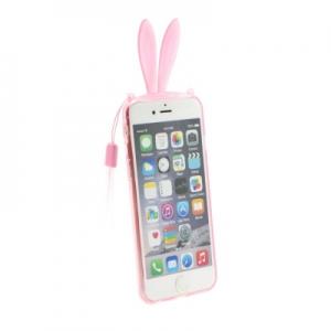 Pouzdro 3D Case Samsung G900 Galaxy S5 Uši růžové