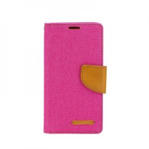 Pouzdro CANVAS Fancy Diary Huawei P8 LITE růžová