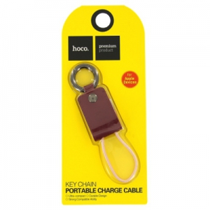 Datový kabel HOCO iPhone 5, 5S, 5C, 6, 6 Plus, 7, 7 Plus, 8, 8Plus, X (8-pin) barva bordó