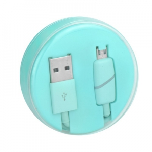 Datový kabel BOX micro USB barva modrá