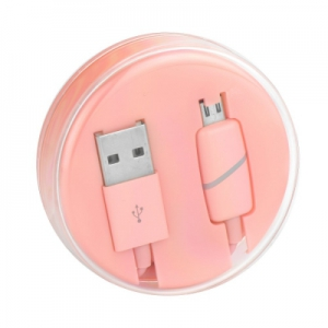 Datový kabel BOX micro USB barva růžová