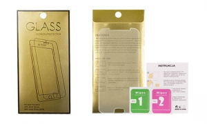 Tvrzené Sklo 9H iPhone 5, 5S, 5C, SE GoldGlass