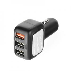 CL adaptér QCU-60 rychlo nabíječ 3A (3x USB) barva černá