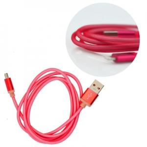 Datový kabel micro USB barva červená - METAL
