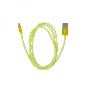 Datový kabel micro USB barva žlutá - METAL