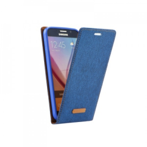 Pouzdro CANVAS FLEXI Samsung G920 Galaxy S6 flip s magnetem barva modrá