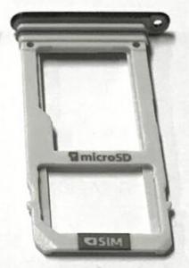 Držák (šuplík) SIM Samsung A320 černá