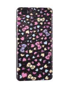 Pouzdro Back Case Hearts Huawei P8 Lite černá