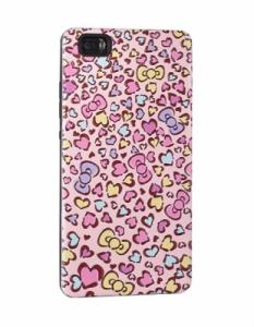 Pouzdro Back Case Hearts Huawei P9 Lite růžová