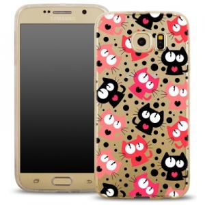 Pouzdro Back Case FASHION Samsung G920 Galaxy S6 transparentní - kočky