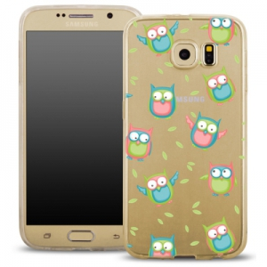Pouzdro Back Case FASHION Samsung G920 Galaxy S6 transparentní - sovy
