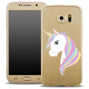Pouzdro Back Case FASHION Samsung G920 Galaxy S6 transparentní - jednorožec